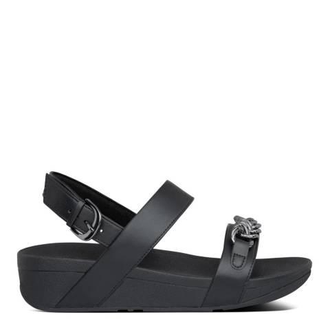 FitFlop All Black Lottie Chain Back-Strap Sandals