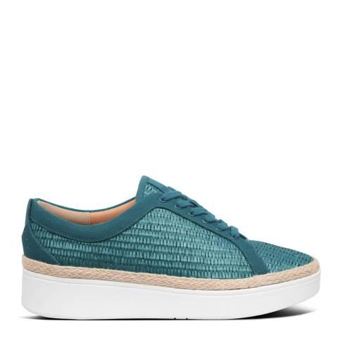 FitFlop Sea Blue Rally Basket Weave Sneakers