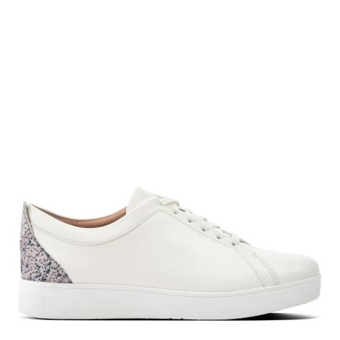 FitFlop Urban White Rally Glitter Sneakers