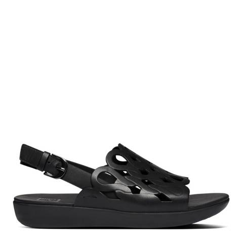 FitFlop Black Elodie Entwined Back-Strap Sandals