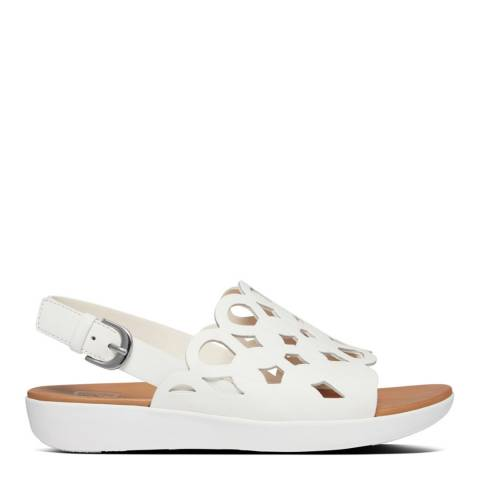 FitFlop Bright White Elodie Entwined Back-Strap Sandals