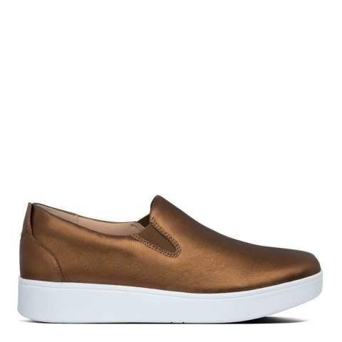 FitFlop Bronze Rally Slip-On Sneakers