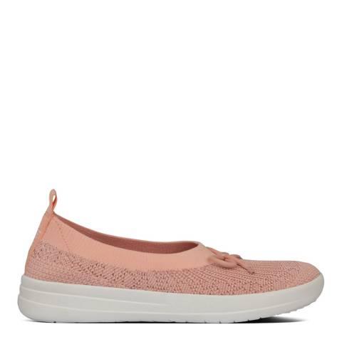 FitFlop Coral Pink Uberknit Slip-On Ballerina