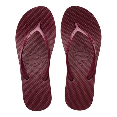 Havaianas Bordeaux High Fashion Flatform Flip Flops