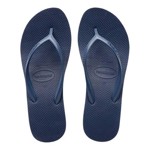 Havaianas Indigo Blue High Fashion Flatform Flip Flops