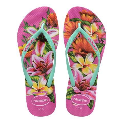Havaianas Hollywood Rose Slim Floral Flip Flops
