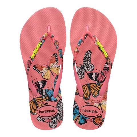 Havaianas Pink Porcelain Slim Sensation Flip Flops