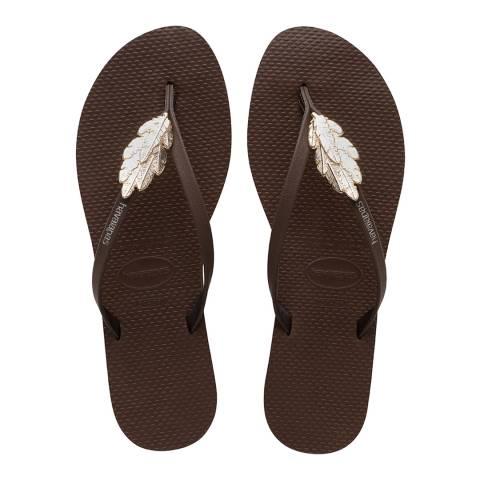 Havaianas Dark Brown You Premium Flip Flops