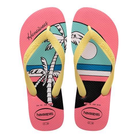 Havaianas Pink Porcelain Top Vibes Flip Flops