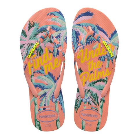 Havaianas Silk Rose Slim Summer Flip Flops