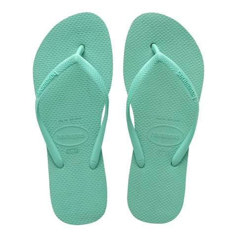 Havaianas Green Dew Slim Flatform Flip Flops