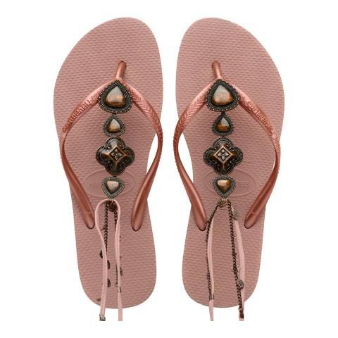 Havaianas Crocus Rose Slim Festival Flip Flops
