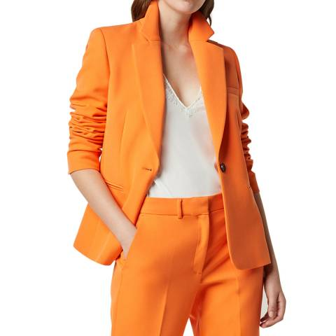 French Connection Orange Tailored Suit Jacket