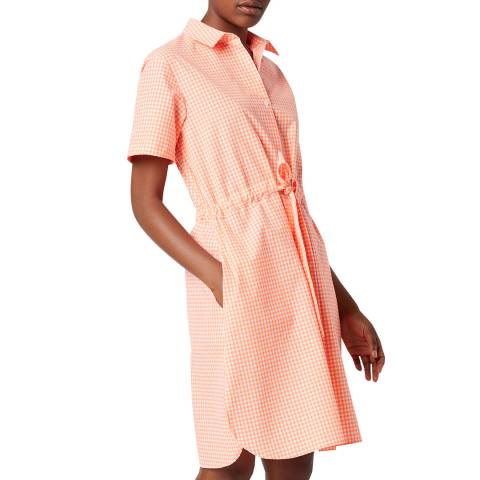 French Connection Pink Gingham Shirt Dress