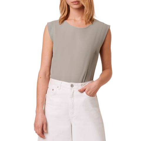 French Connection Grey Light Sleeveless Top