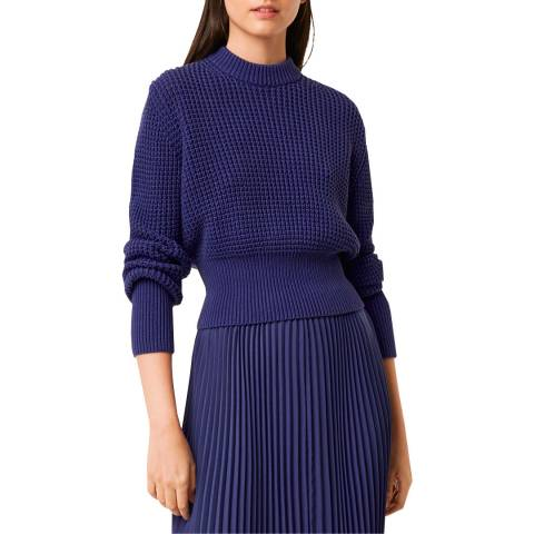 French Connection Blue Waffle Jumper