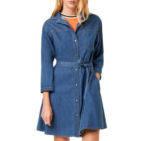 French Connection Blue Denim Shirt Dress