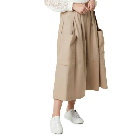 French Connection Beige Cotton Culottes