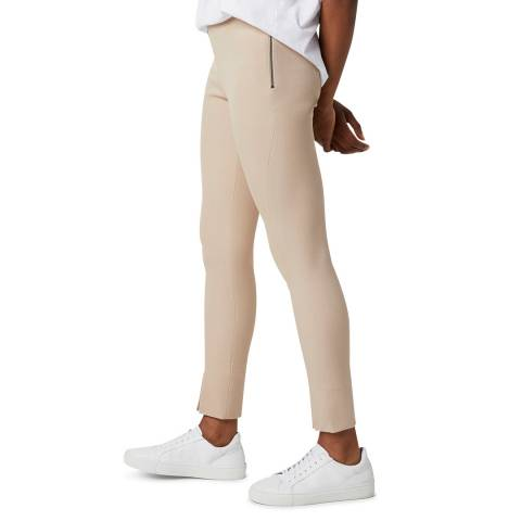 French Connection Beige Skinny Front Split Trousers
