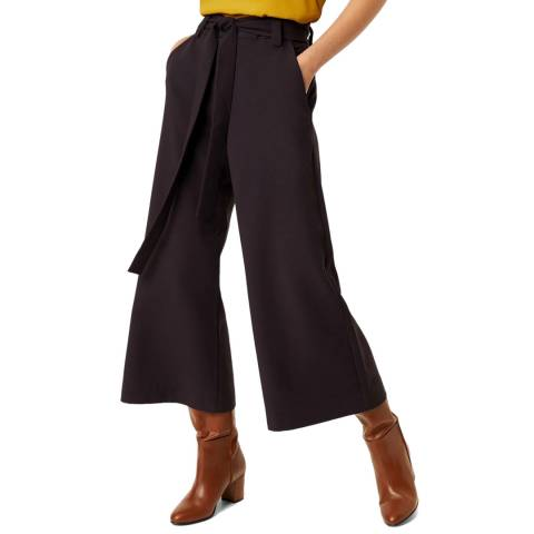 French Connection Navy Cropped Flare Trousers