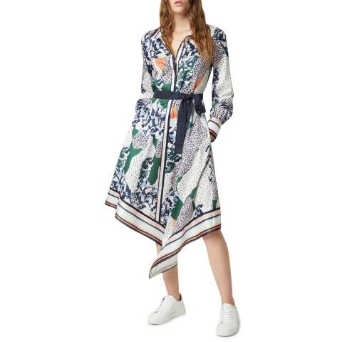 French Connection Multi Print Handkerchief Dress