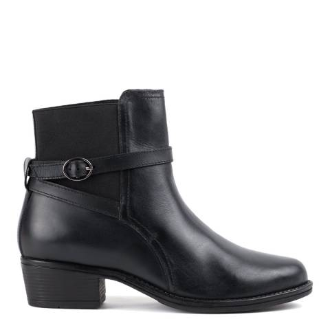 Redfoot Black Ankle Strap Boot