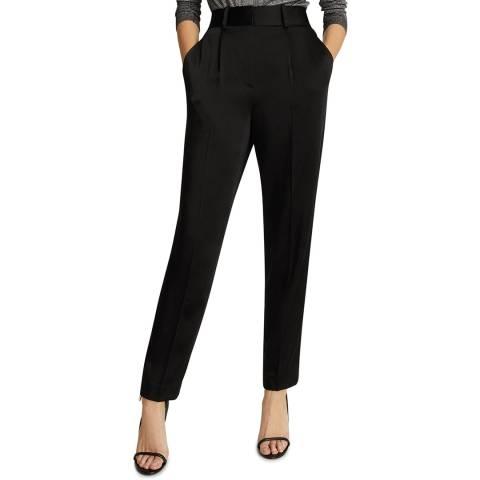 Reiss Black Elyssah Satin Trousers