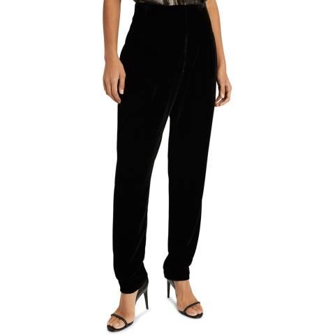 Reiss Black Poppy Velvet Trousers