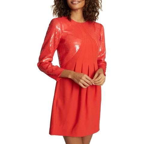 Reiss Red Cara Sequin Dress