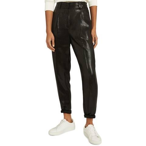 Reiss Black Abby Shimmer Trousers