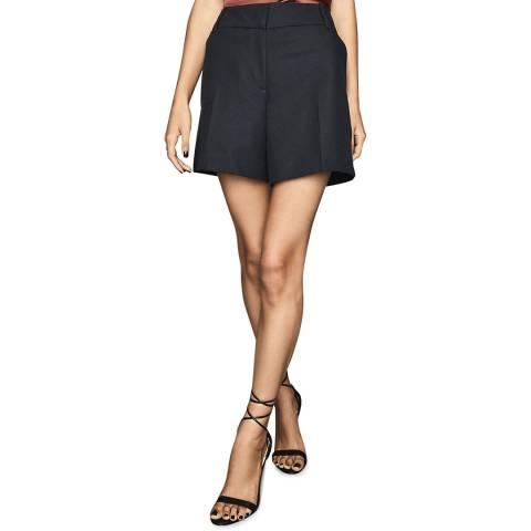 Reiss Navy Lyla Long Twill Shorts