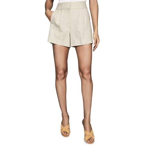 Reiss Beige Lauren Linen Blend Shorts