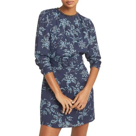 Reiss Blue Print Melody Dress