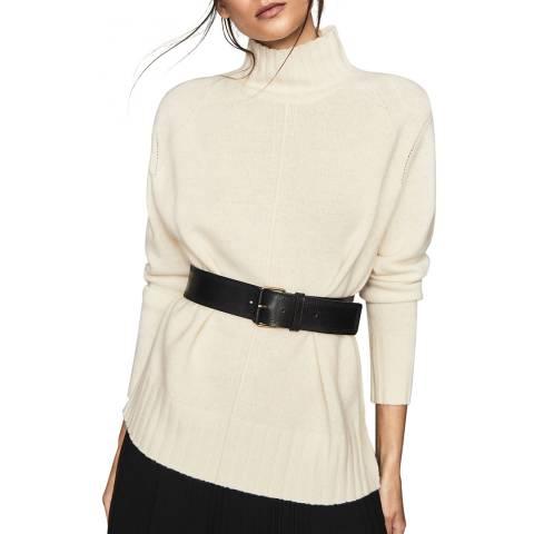 Reiss White Bonnie Wool/Cashmere Jumper