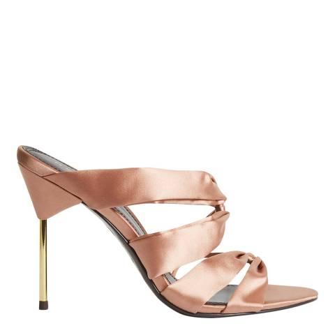 Reiss Pink Monroe Satin Mules