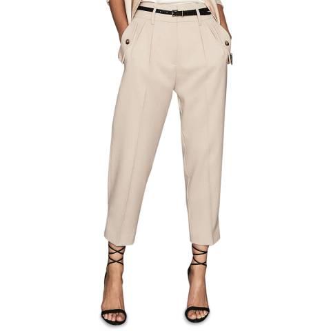 Reiss Beige Brooklyn Trousers