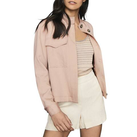 Reiss Pink Ives Utility Jacket
