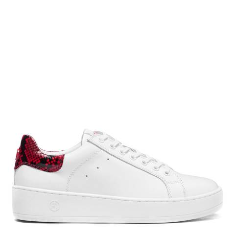 Philip Hog White/Red Leather Lova Trainers