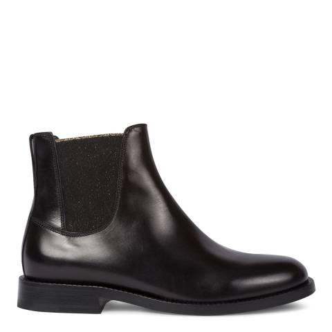 PAUL SMITH Black Leather Camaro Chelsea Boots