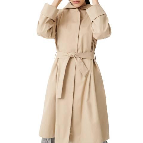 MAJE Camel Hooded Trench Coat