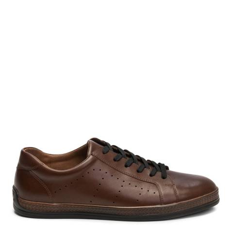 Belwest Brown Leather Trainers