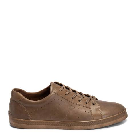 Belwest Taupe Leather Trainers