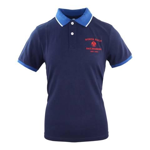 NORTH SAILS Navy Logo Cotton Polo Shirt