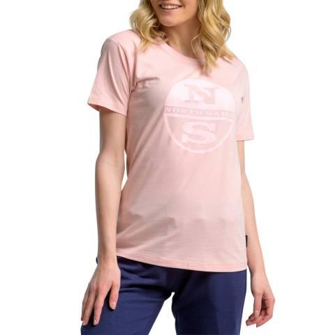 NORTH SAILS Pink Graphic Cotton T-Shirt