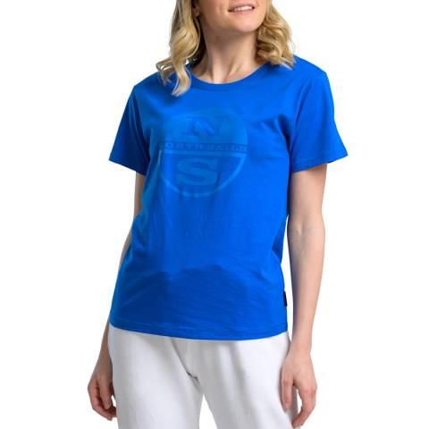NORTH SAILS Blue Graphic Cotton T-Shirt