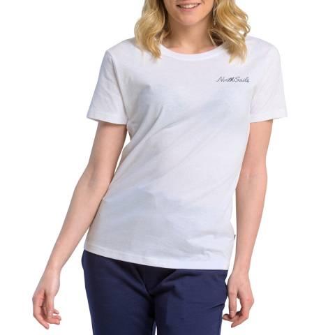 NORTH SAILS White Graphic Cotton T-Shirt