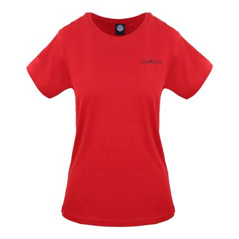 NORTH SAILS Red Graphic Cotton T-Shirt