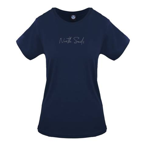 NORTH SAILS Navy Graphic Cotton T-Shirt