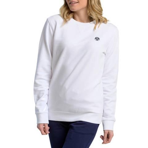 NORTH SAILS White Logo Cotton Sweatshirt