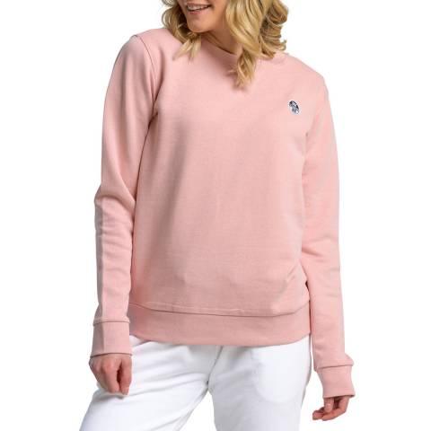 NORTH SAILS Pink Logo Cotton Sweatshirt